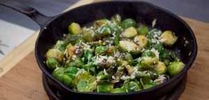 Marijuana Recipes - Roasted Lemon Parmesan Brussels Sprouts