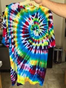 Shirt made by party goer at the High Tie Dye party!