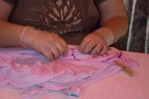 High Tie Dye -- Folding Shirts pre dye.