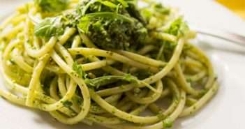 marijuana recipes - Spaghetti with Arugula Pesto