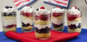 Lemon Berry Trifles -- 4th of July Marijuana Recipes